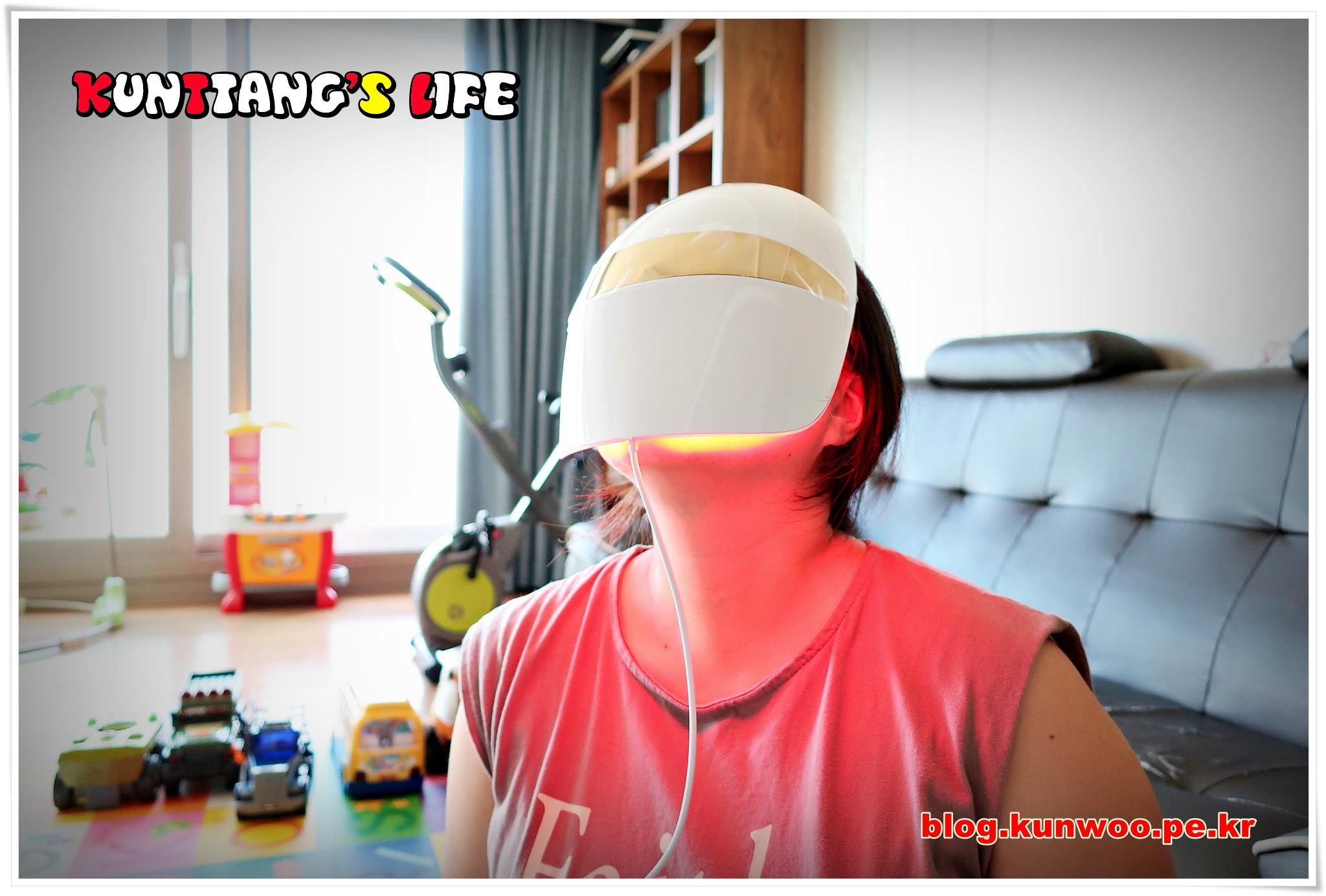 [그림12] Derma LED Mask 착용모습