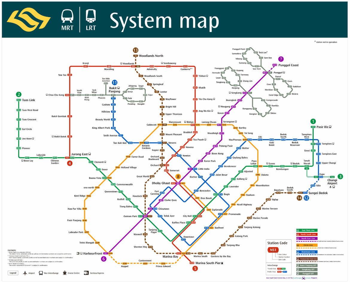 Singapore Subway Map