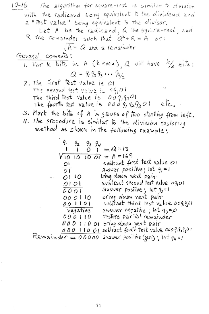 컴퓨터구조 연습문제, 모리스 마노 챕터10 71