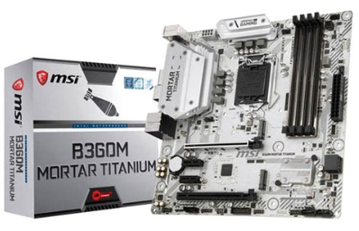 MSI 인텔 메인보드 B360M 박격포 TITANIUM MS-7B23