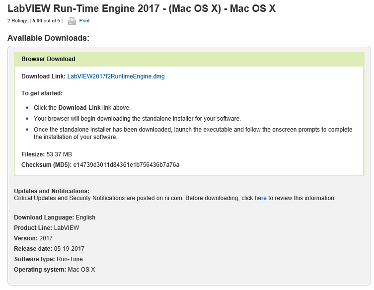 Labview] Run-Time Engine more OS(Mac, Linux)