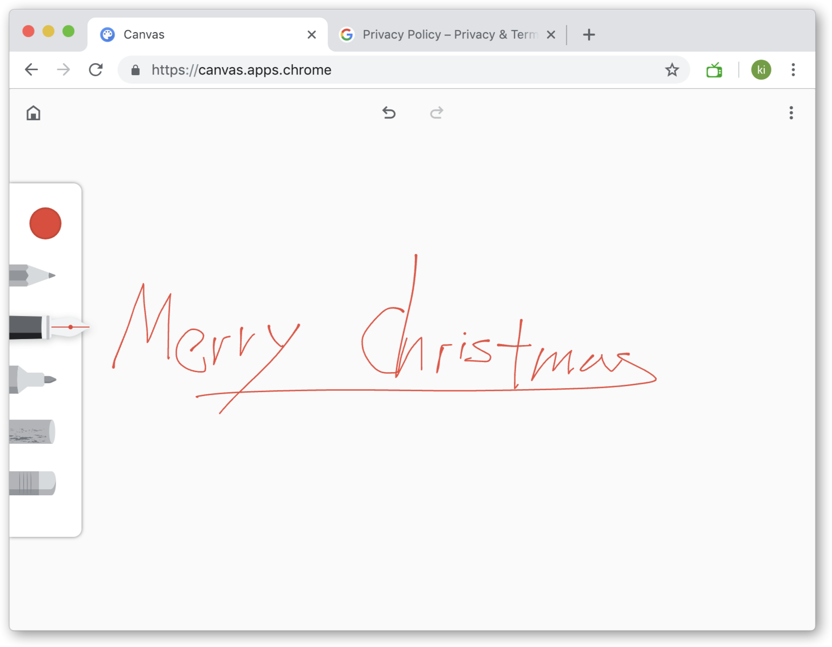 Chrome Canvas 창1