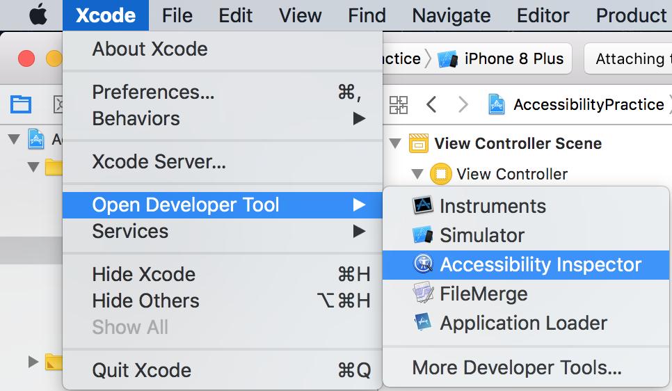 iOS ) Accessibility(접근성) - Accessibility Inspector