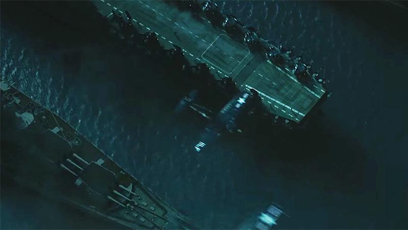 사진: 영화에서 인천상륙작전이 시작되는 장면