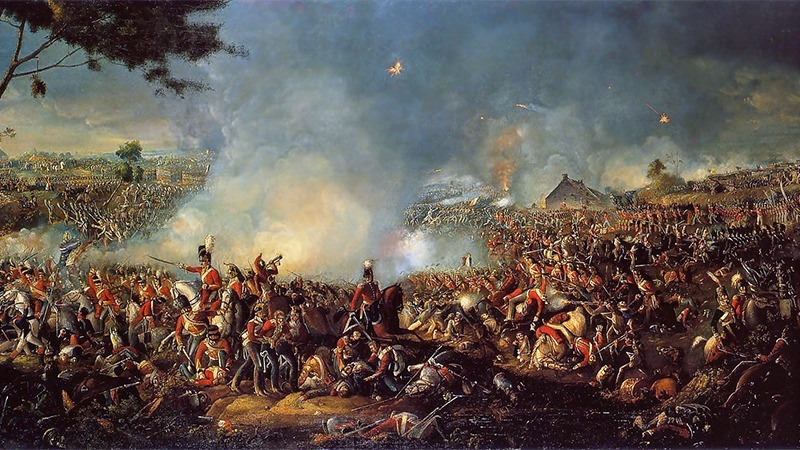 사진: 1815년 나폴레옹이 패배했던 벨기에의 워털루 전쟁 그림