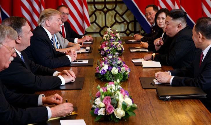2019.2.28 트럼프와 김정은의 확대정상회담 발언