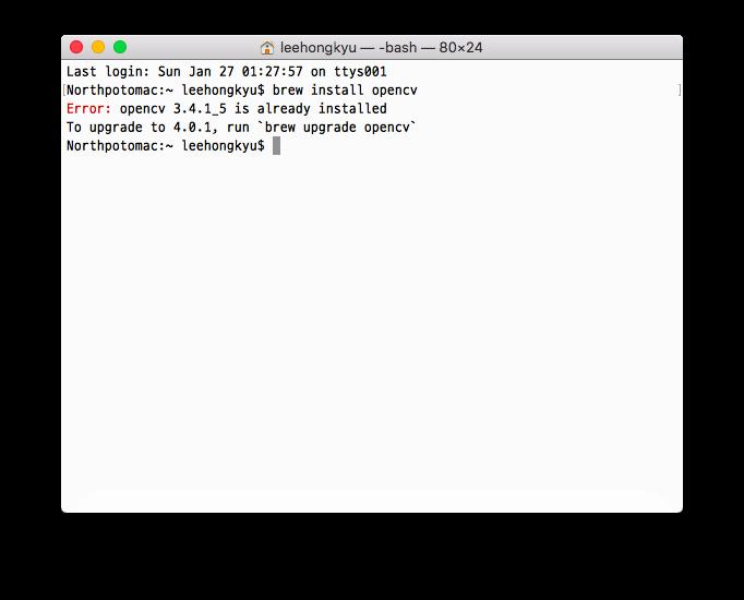 Install opencv 4 0 mac | Peatix