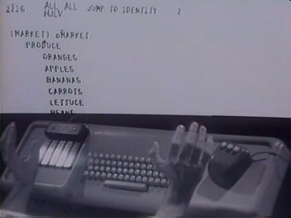 Douglas Engelbart 1968 first computer mouse