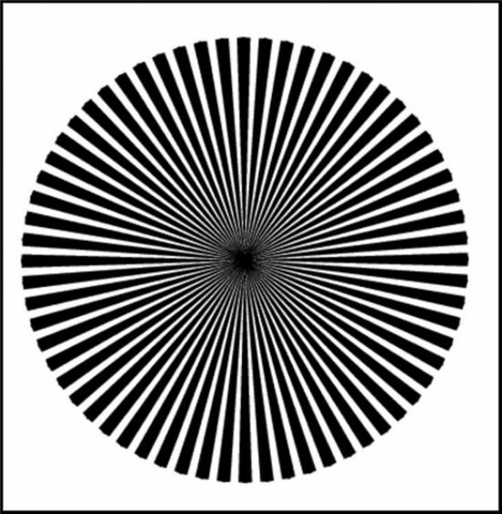 흑백 띠로 된 원 이미지