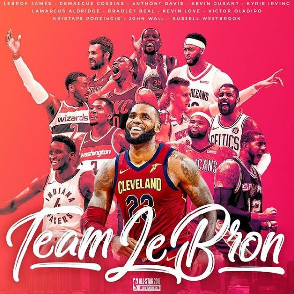 2018 NBA all-star, Team LeBron roster