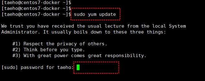 sudo yum update