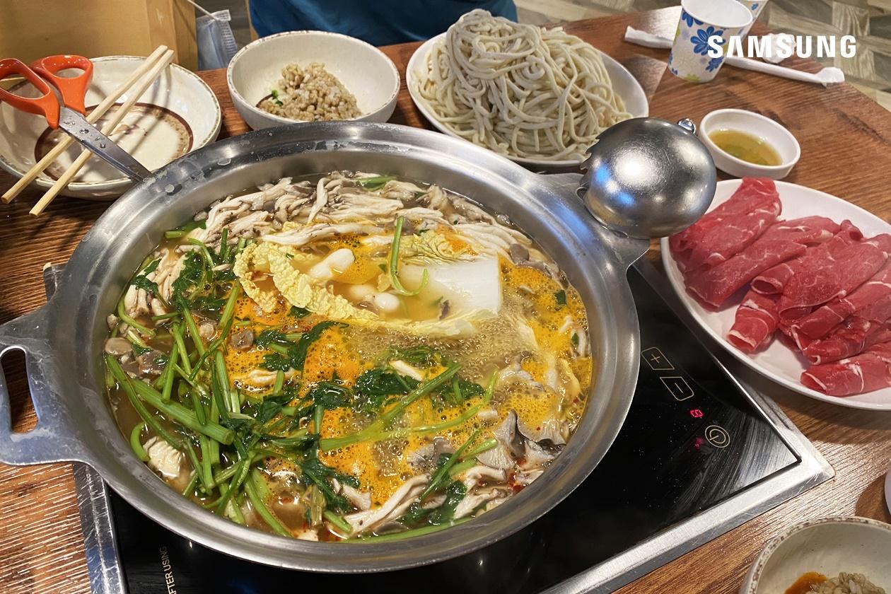 의왕 백운호수 맛집 정원 칼국수