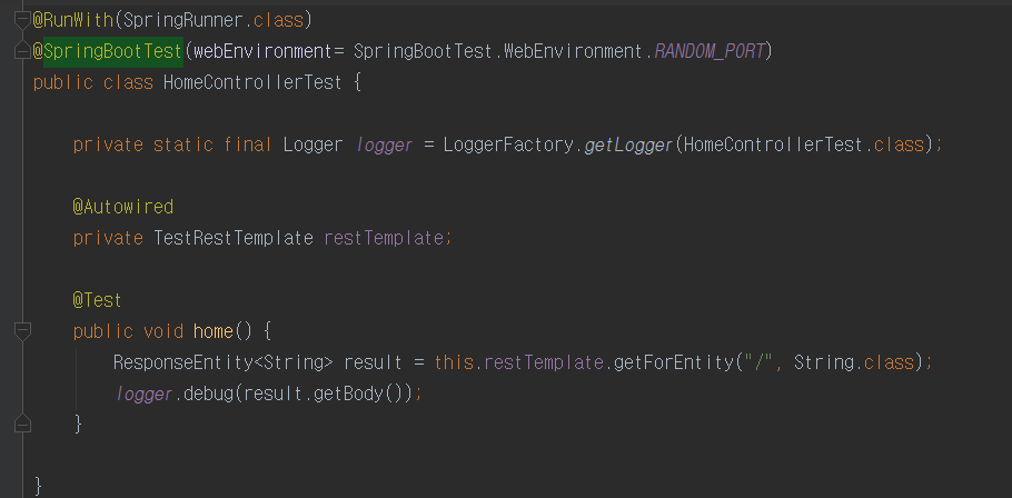 RestTemplate&SpringBootTest