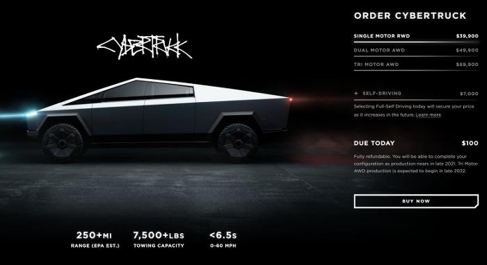 테슬라(Tesla)  사이버 트럭 발표