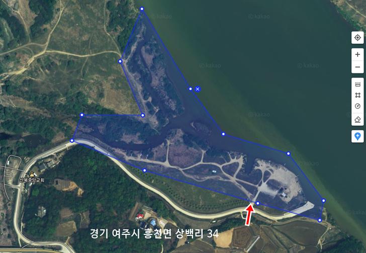 남한강 붕어낚시 포인트 - 여주 상백리(상백리 수로)