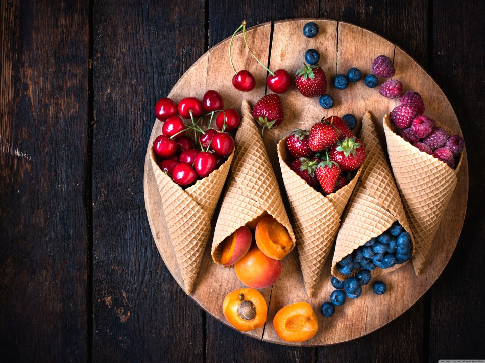 Download Fruits Cone HD Wallpaper