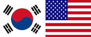 대한민국(Republic of Korea) 태극기·미합중국(The United State of America) 성조기
