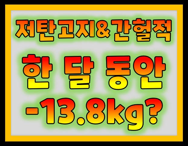 저탄고지 식단 간헐적 식단