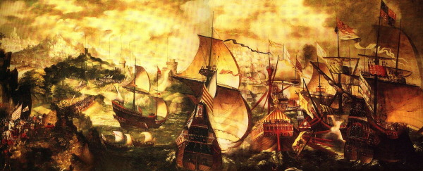Painting-Naval-Battle-of-Calais