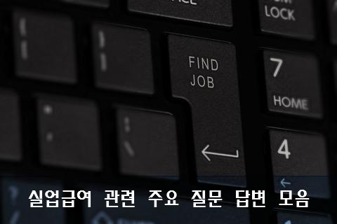 고용보험 실업급여 관련 질문 답변 정리