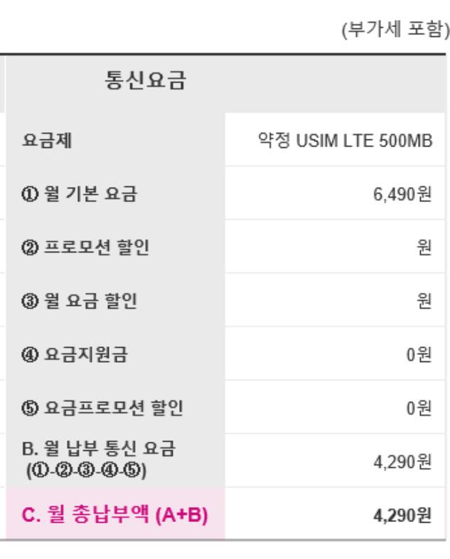 CJ 헬로모바일 약정 USIM LTE 500MB 요금제로 번호이동하다