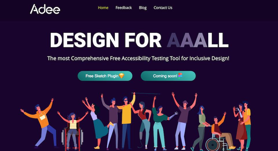 디자이너를 위한 무료 종합 접근성 테스트 도구, Adee