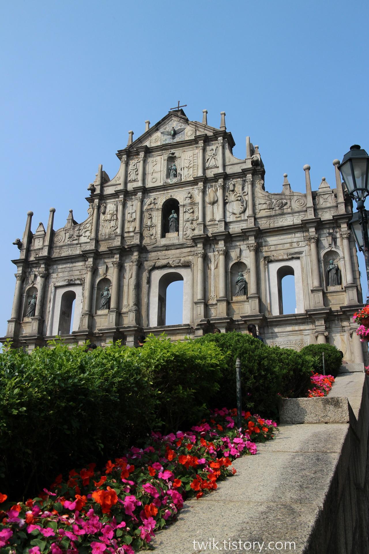 마카오(Macau) - 세나도 광장, 성 바울 성당 유적