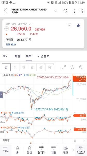 일본 닛케이 지수 투자 방법 - 노무라증권 일본 닛케이225 패시브 ETF NEXT FUNDS 日経225連動型上場投資信託 Nomura Nikkei 225 Listed