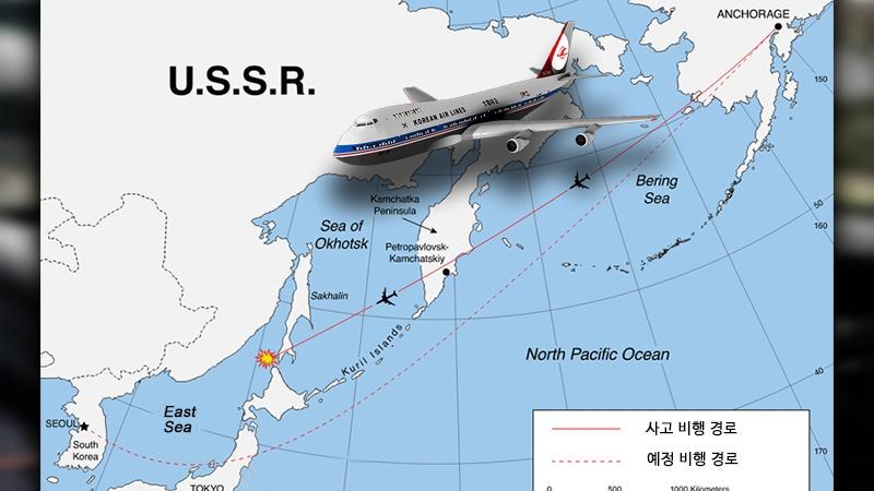 사진: 1983년 대한항공 KAL 700편 격추 사건 설명