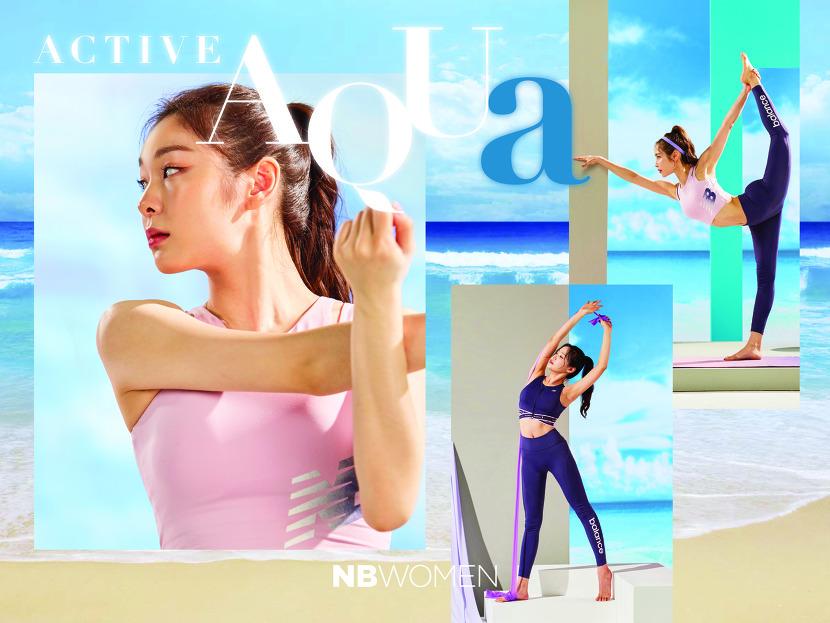 뉴발란스가 2019년 여름 시즌을 맞아 브랜드 뮤즈 김연아와 함께 한 우먼스 캠페인 '액티브 아쿠아'를 공개했다.