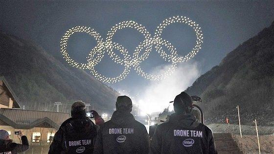 평창 올림픽 오륜기 드론 팀