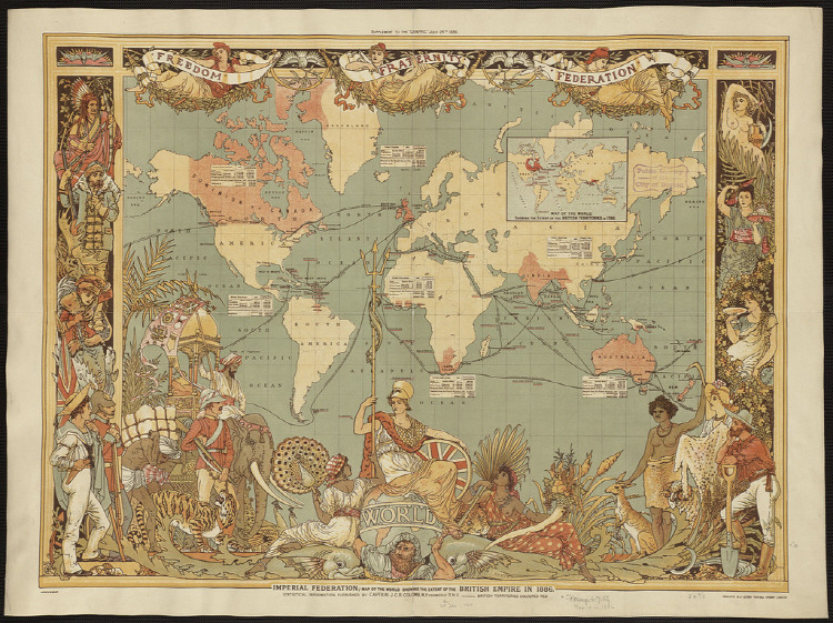 British Empire Map 1886 history