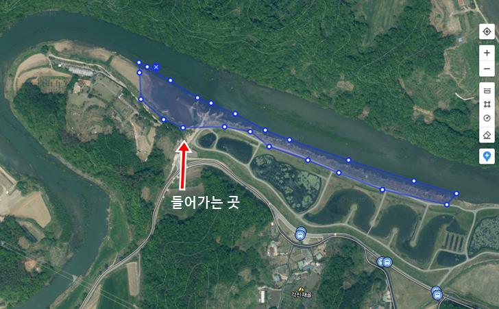 대청댐 붕어낚시 포인트 - 옥천권 지오리