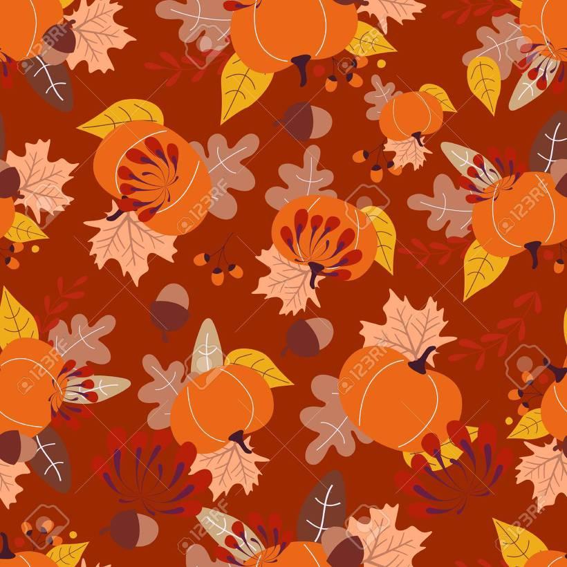 가을 패턴 일러스트
