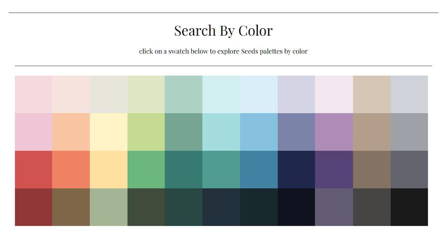 Design Seeds - 대표 컬러별 색조합