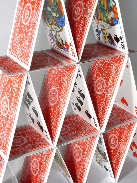 Fragile House Of Cards Risk Playing Cards Risky