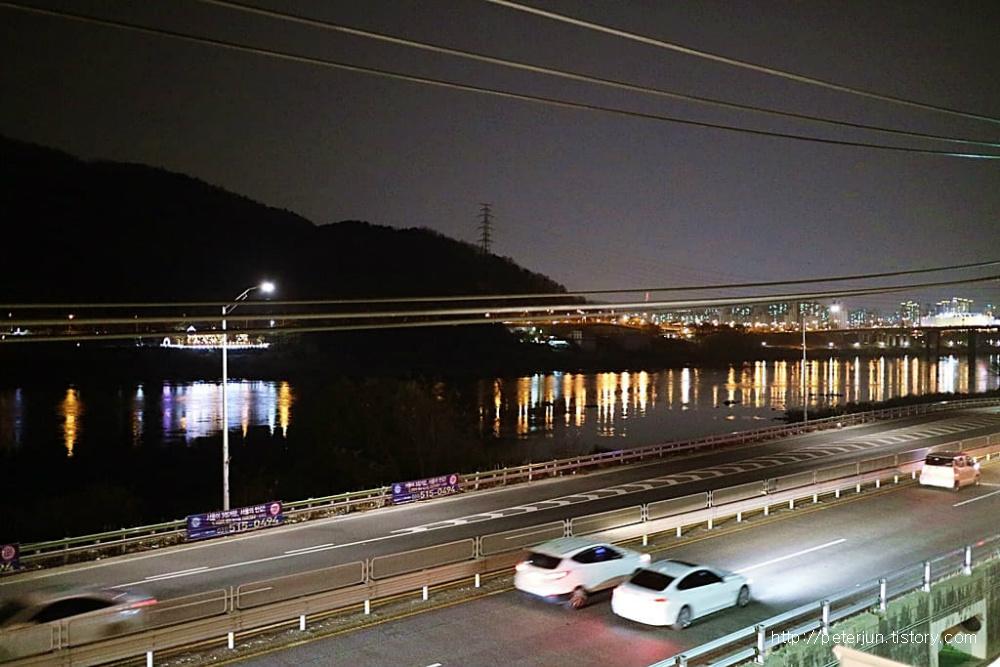 한강 야경, 불빛 반영
