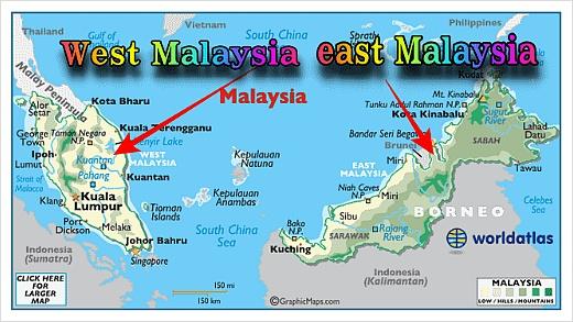 말레이시아 지도