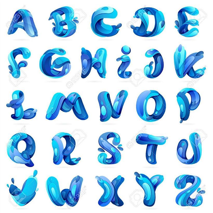 여름 시원한 워터 폰트 글꼴 젤리 물방울