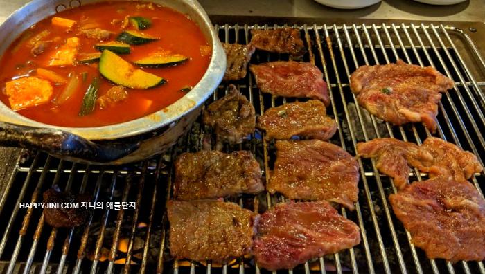 [엘에이 한인타운 맛집] 자갯 서베이가 인정한 숯불갈비는 '숯불집' 고깃집ㅣ 코리안 비비큐 바베큐 레스토랑 ㅣ 양념갈비 식당4
