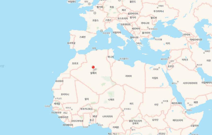 알제리 지도
