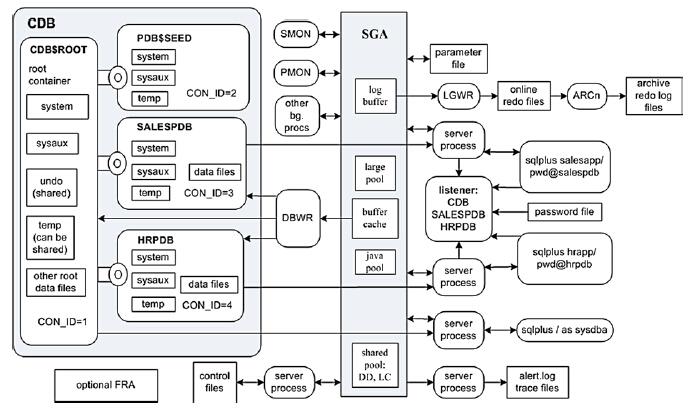 메모리-프로세스 관점에서의 Oracle 12c