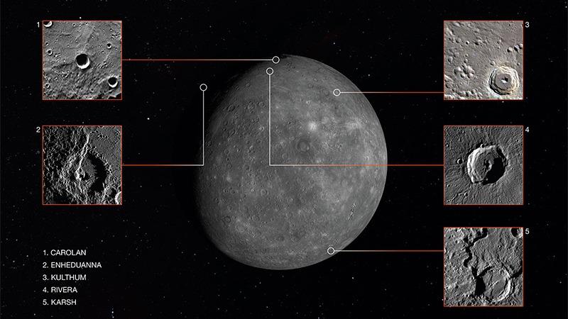 사진: 태양계에서 가장 작은 행성 수성의 모습