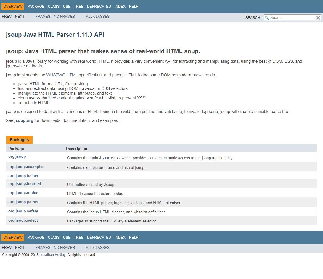 Java HTML Parser, Python의     - Code Dragon :: jsoup