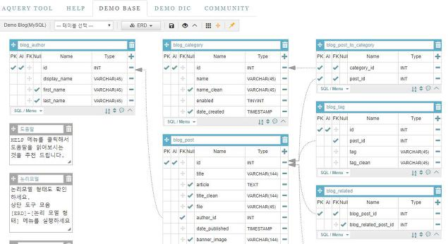 간단한 웹 ERD tool