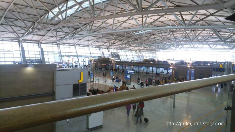인천공항 탑승수속 3층 풍경
