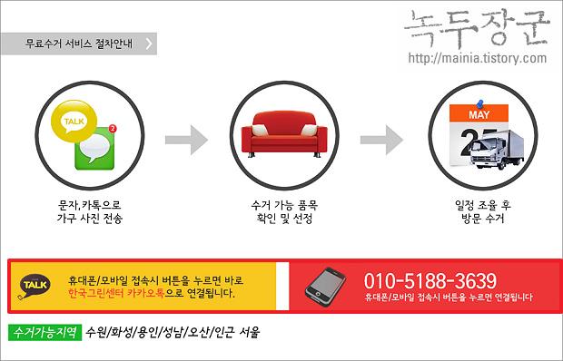 한국그린센터 이용해서 폐가구 무료 수거 신청하는 방법