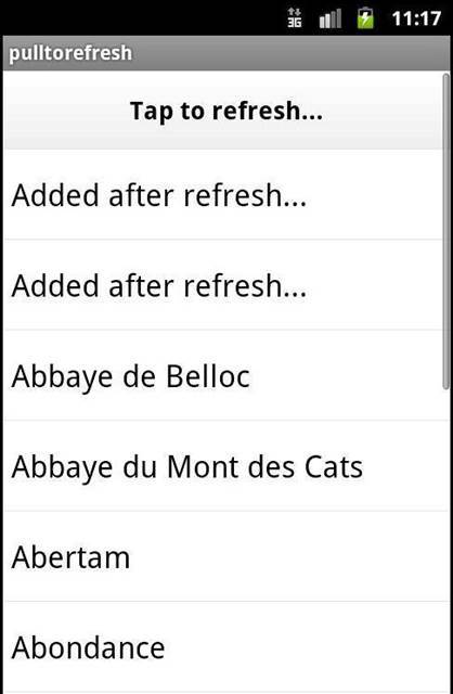 Android - Tap to refresh