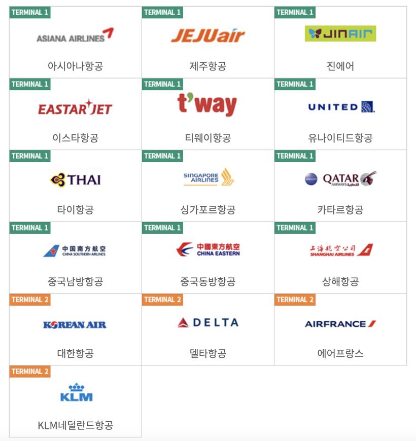 삼성역 도심공항 체크인 가능 항공사