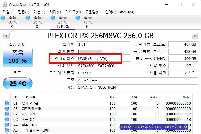 ipTIME HDD3225 UASP 지원 확인
